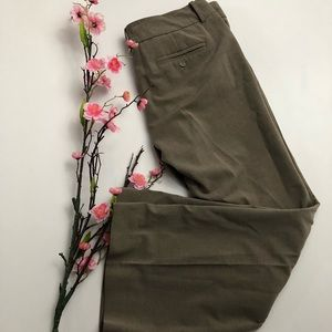 The Limited Drew Fit Tan Brown Short Inseam Pants